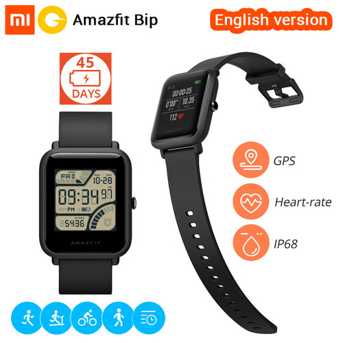 Xiaomi Huami Amazfit Bip Smart Watch [English Version] Smartwatch Pace Lite Bluetooth 4.0 GPS Heart Rate 45 Days Battery IP68