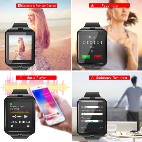 GETIHU Bluetooth DZ09 Smartwatch Sport SIM Digital Camera Wrist Phone Smart Watch Men For Apple Android Wach Wearable Devices