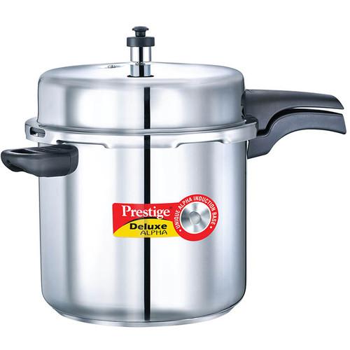 Prestige Deluxe Alpha Stainless Steel Pressure Cooker 10 Ltr (PRESTIGE-20608)