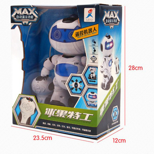 Smart Space Dance Robot 360 degrees Rotating RC Animal Plastic Electronic Walking Dancing Toy With Music Light For Children Gift