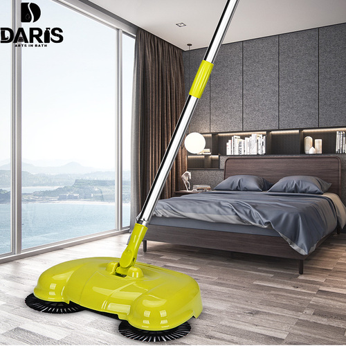 DARIS Stainless Steel Sweeper Handle Push Type Cleaning Magic Sweeping Machine Household Hand Push Floor Broom Dustpan Robot