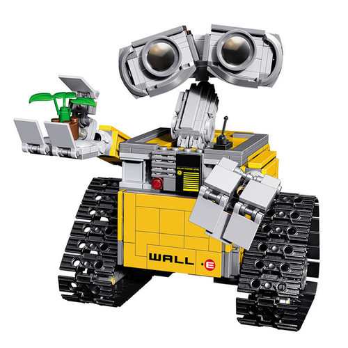 2017 New 687pcs Idea Robot WALL E Legoings Building Blocks Kit Toys For Children Education Gift Compatible Bricks Toy 16003
