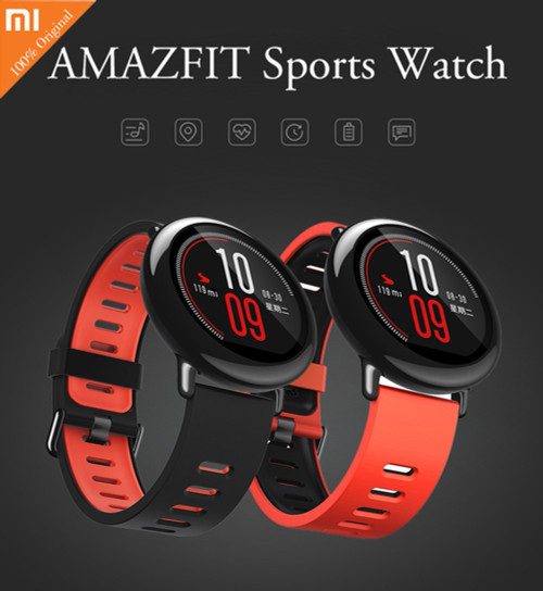 Original Xiaomi Huami AMAZFIT smart watch Bluetooth 4.0 Sports Smart Strap Ceramic Smartwatch Heart Rate Monitor ENGLISH VERSION