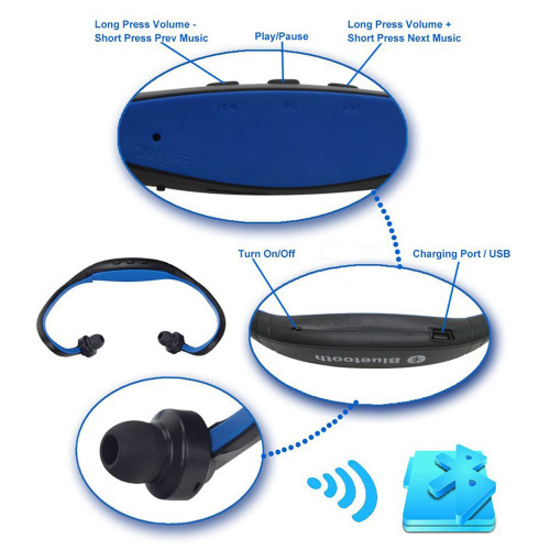 Briame S9 Sport Wireless Bluetooth Headset Handsfree Earphone Running Stereo Bluetooth Headphone For iPhone Samsung Xiaomi
