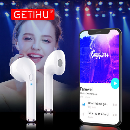 GETIHU Mini Twins Bluetooth Sport Earphones Stereo headphones in Ear Buds wireless Earbuds handsfree Headset For iPhone Samsung