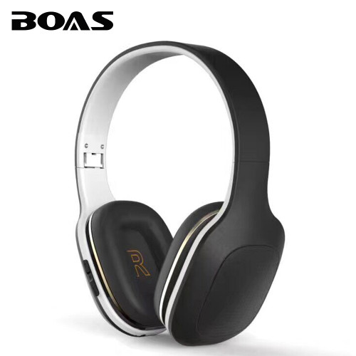 BOAS New Wireless Bluetooth Foldable Over-Ear Headphone Music Stereo Sound Earphone Handsfree with Mic Headset for Smartphones