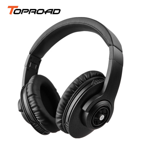 TOPROAD Portable Foldable Bluetooth Headphone Noise Cancelling Stereo Wireless Headset Support Voice dial Handsfree for Phone