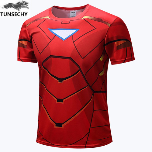 TUNSECHY 2017 Spider-man 3D Printed T-shirts Men Compression Shirt  Short Sleeve Crossfit Fitness Cloth Tops Male Costume