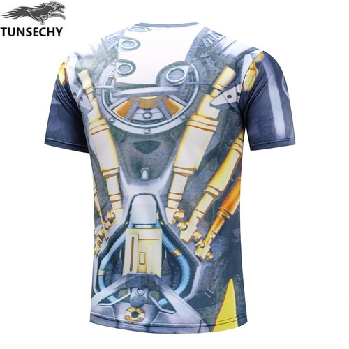 TUNSECHY Avengers Superhero T-shirts Batman Spiderman Superman Captain America Digital printing T-shirts Free transportation