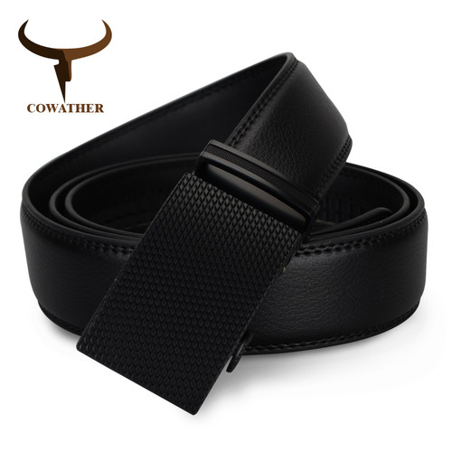 BELT AUTOMATIC BUCKLE COW GENUINE LEATHER BELTS FOR MEN LUXURY BRAND WIDE CZ032