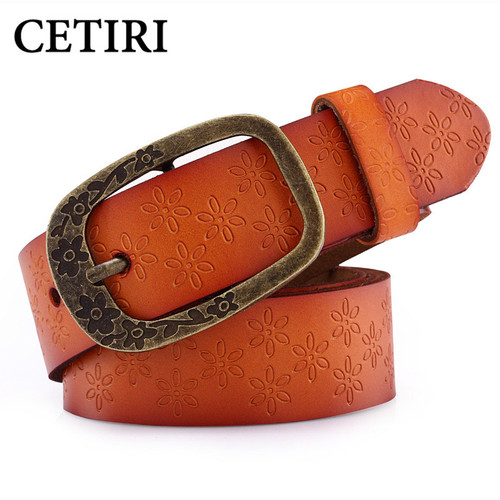 Jeans Belts For Women Designer Brand High Quality Cowhide Large 110-135 cm Genuine Leather Belt Women Pin Buckle Strap Ceinture