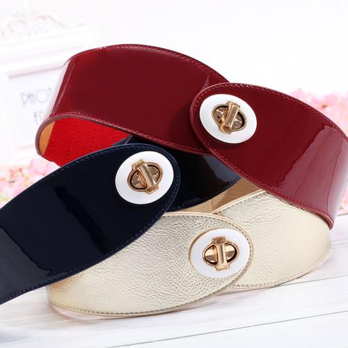 Himunu 2016 Brand Fashion Genuine Leather Women Belt Elastic Hasp Buckle Wide Belts For Women Strap Designer female Cummerbund