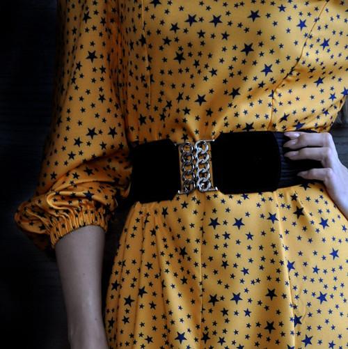 Wide belt belts for women New Fashion Women chain belt  Wide Self Tie Wrap Around Waist Band Dress Belt