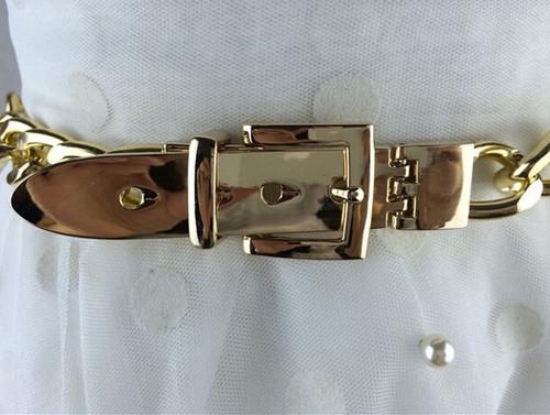 fashion gold silver chian belt waist decoration metal belts female silver rhinestone chuny punk designer belt for women