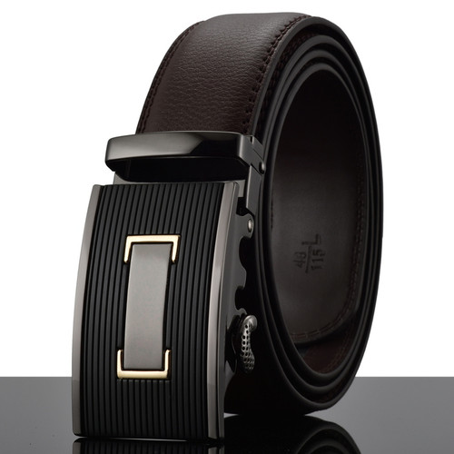 WOWTIGER Belt New Male Designer Automatic Buckle Cowhide Leather men belt 110cm-130cm Luxury belts for men Ceinture Homme