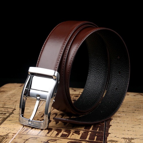 2017 New Designer Belts Mens High Quality Luxury Brand Leather straps Pin Buckle Black Business Trouser Cinturones Hombre Cinto