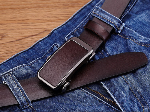 Hongmioo Mens Belts Luxury High Quality Automatic Buckle Belt Designer Leather Belt Men Casual Strap With Brown Color Wholesale