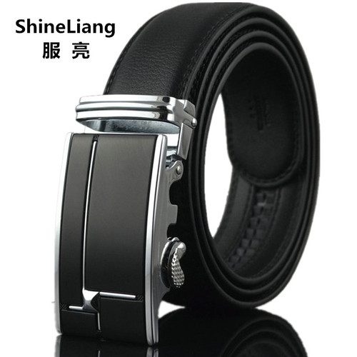 2018 Men's Belt Famous brand Automatic buckle Leather Width 3.5CM Designer high quality Gold silver 110/120/130CM male Luxury