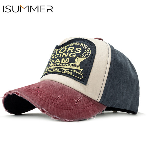 ISummer 2018 Retro Baseball Cap Women Grinding Patchwor Baseball Hat Men Snapback Hip Hop Hat Cotton Cap Unisex gorras Wholesale