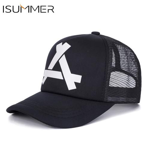 ISUMMER 2018 Summer Baseball Mesh Cap Men Hat Hip Hop Snapback Hat Dad Hat Adjustable Leisure Women Men Cap bone Free Shipping