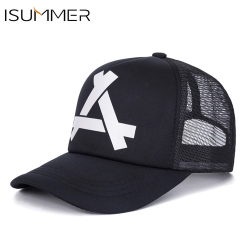 ISUMMER 2018 Summer Baseball Mesh Cap Men Hat Hip Hop Snapback Hat Dad Hat Adjustable Leisure Women Men Cap bone Free Shipping