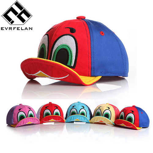 2018 New Cute Duck Design Baby Baseball Hat Cap For Boys Girls Sun Hat Kid Hat Children Cap Snapback Cap Outdoor Sports