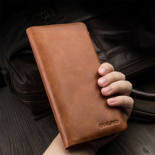 For Apple iPhone 7 / 7 Plus Top Quality Luxury Genuine Leather Card Slot Magnet Wallet Pouch Mobile Phone Bag + Free Gift