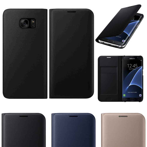 Original Flip Leather Case for Samsung S8 S9 Plus Case S6 S7edge A3 A5 A7  J1 J5 J7 Prime Note5 Note8 Card Slot Case Back Cover