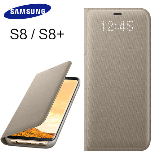 Samsung S8 S 8 Plus Original LED View Cover Case 360 Wallet Flip Leather Cute Protective Shockproof Protection Luxury Back Cases