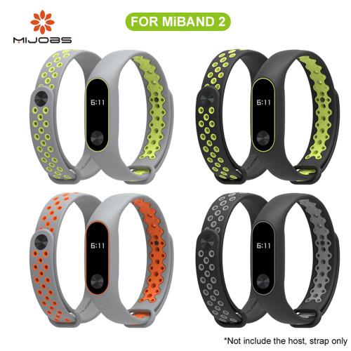 Mijobs Xiaomi Mi Band 2 Strap Sport miband 2 Strap Bracelet For xiaomi mi band 2 Bracelet Colorful Silicone Replacement