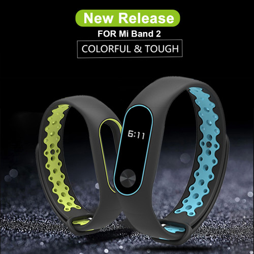 Mijobs Xiaomi Mi Band 2 Strap Sport miband 2 Strap Bracelet For xiaomi mi band 2 Bracelet Colorful Silicone Replacement