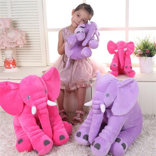 Cartoon 60/40/33cm Large Plush Elephant Toy baby Sleeping Back Cushion stuffed Pillow Elephant Doll Birthday Gift for Kids