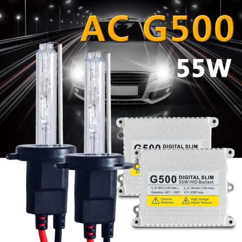 12v 55w kit xenon H7 H1 H3 H4 H11 H8 H9 H11 HB3 HB4 9005 9006 881 H27 D2S 4300k 5000K 6000k 8000K HID xenon headlight