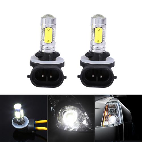 2x Car Truck 5 COB LED 7.5W 6500K HID White Fog Lights DRL Bulbs H27W/2 881