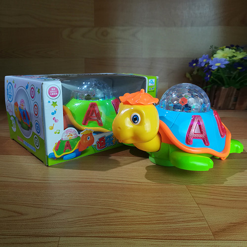 Turtle Baby Toy Cartoon LED Light Music Universal Electric Flash 3D Lights Children's Sports Toy Crawl Turtle Perfect Birthday Gifts