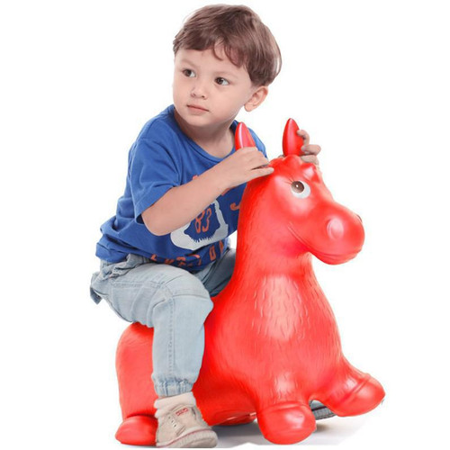 Bouncy Horse Hopper Musical Toys Inflatable Bouncer Jumping Child Inflatable Rubber Baby 60*52*28cm