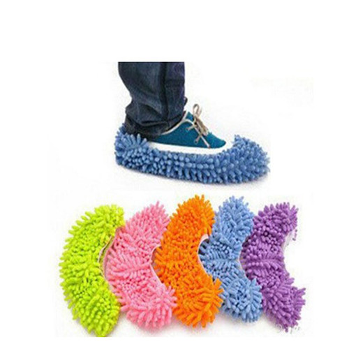 2pcs Dust Floor Cleaning Slippers Shoes Socks Mop House Indoor Clean Shoe Cover Multifunction Lazy Wipe Slippers HE034