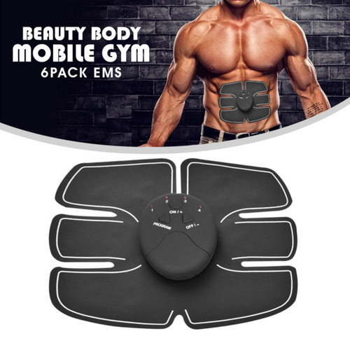 6 Pack EMS Tummy Flatter, Weight loss Muscle Toning/ Fitness Technology Kit 6 Pack Abs, Wireless Electro Pad Portable Gym Trainer for Men/Women