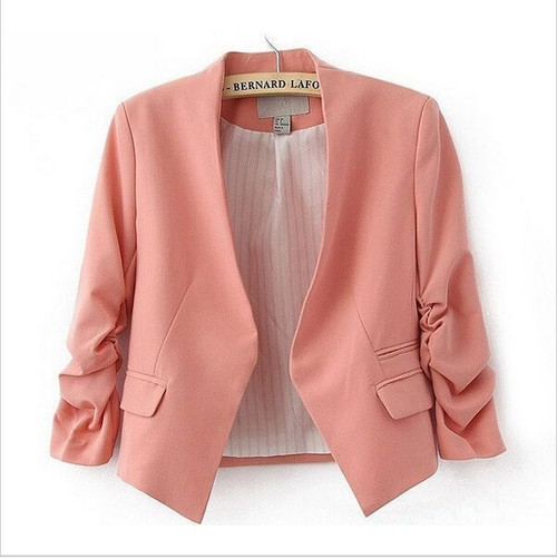Fashion Basic Jacket Blazer Women Suit Cardigan Puff Sleeve Ladies Autumn Plus Size Brand Coats Casual blazer female