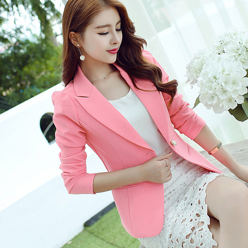 AFEENYRK 2017New Spring Autumn Business style Office suit Blazer Top Quality slim long sleeved solid color Womens small suit
