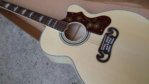 New J200 single cut acoustic guitar SJ200N electric acoustic Guitar single cutaway Acoustic black hard shell