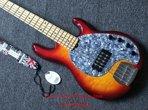 5 Strings Bass Maple fingerboard Electric Bass Guitar Music instruments in stock free shipping