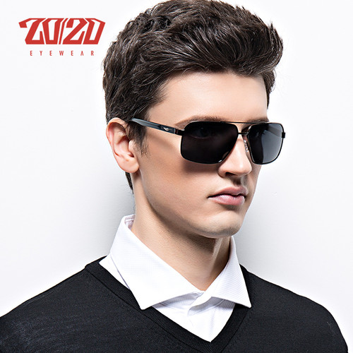 20/20 Brand Design New Aluminum Polarized Sunglasses Men Travel Driving Sun Glasses Classic Male Eyewear Gafas PZ7014