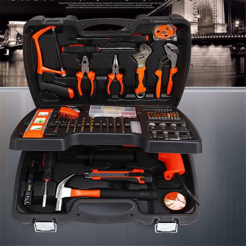 138 PCS Multifunctional Tool Kit Hardware Home Kit Woodworker Metal Produce DIY Tools  Including Drill Sets Electrical Tools