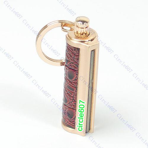 E74 Golden Keyring KeyChain Permanent Match Striker Lighter