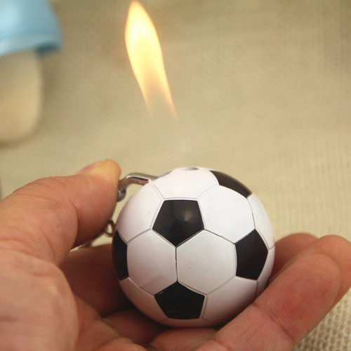 2018 New Football shape Pendant lighter Refillable butane gas lighters Free shipping