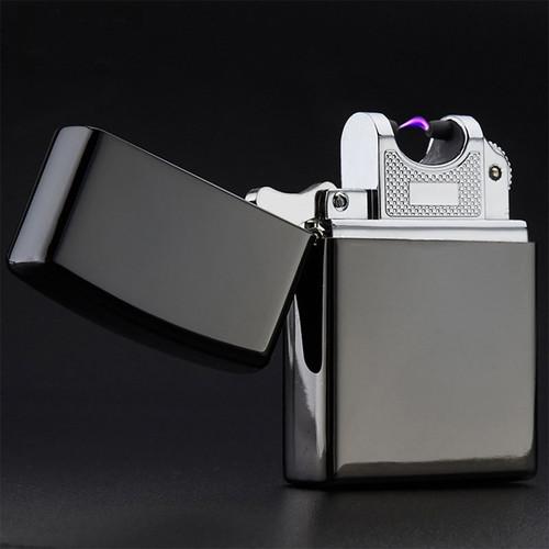 USB Lighter Electronic Cigarette Lighter Pulsed Arc Lighter Windproof Metal Cigarette Plasma Flameless Cigar Lighter 10 colors