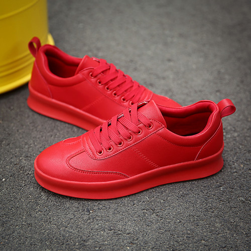 New Design Spring Autumn Men's Outdoor Sneakers Breathable Black Red White Boys Sport Running Shoes Youth Anti-slip Flats Shoes