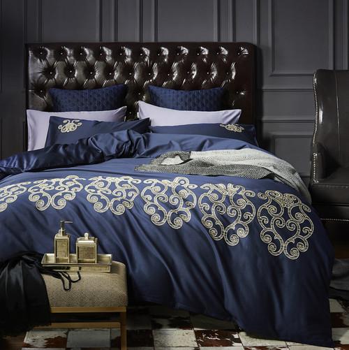 4Pcs 100% Cotton Black White Silver Luxury Bedding Sets/Bedclothes King Queen size Duvet Cover Bed Sheet Linens set Pillowcases