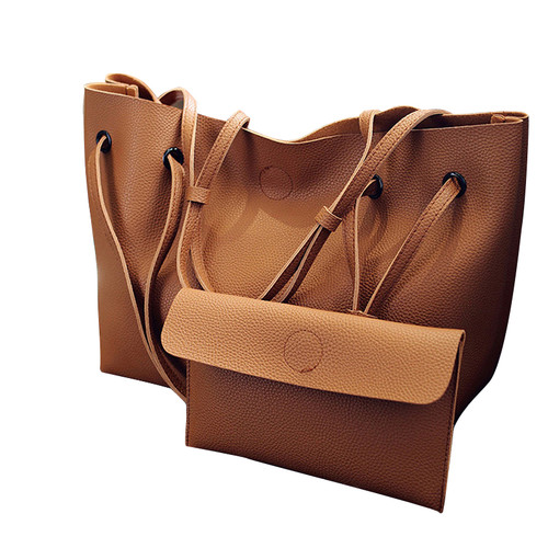 Vintage Handbags Woman PU Leather Large Capacity Female Shoulder Bags Solid Color Practical Women corssbody Bag Composite Bag